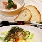 73010891 - アミューズと自然薯のサラダ