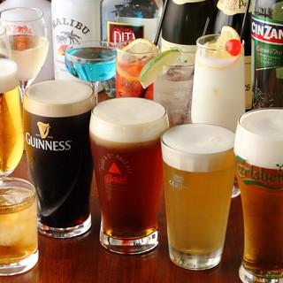 クラフト生ビール10種類、世界のビール140種類以上!
