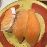 はま寿司 - サーモン三点