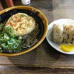 吉田屋 - 料理写真:かきあげそば=390円 かしわめし=200円