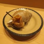 鮨 由う - 山口県産萩の白バイ貝1