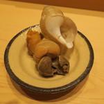 鮨 由う - 山口県産萩の白バイ貝2