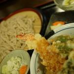 瑳山 - そばランチ天丼980円(税別)
