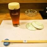 鮨嵩 - 生ビール