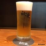 下町天丼 秋光 - 生ビール