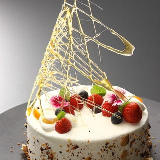記念日には愛を込めて、バースデーケーキや花束をご用意◆