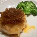73025105 - 帆立と海老すり身煎り焼XO醬1400円