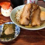りらくしん - 料理写真:【2017.9.5】醤油ラーメン小¥750+魚粉¥50+味玉¥100
