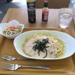 喫茶陽だまり - 料理写真:明太子のクリームスパゲティセット500円