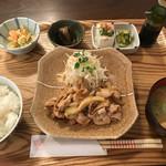 リゾム - 豚のしょうが焼き定食