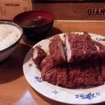 三河屋 - ジャンボカツ定食@¥900