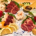 あじ処 城粋 koiki - 料理写真:馬刺5種盛り