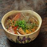米とサーカス - 豚モツと牛スジのやわらか味噌煮込み ¥450