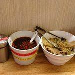 金蠍 - 金蠍 @神谷町 卓上調味料類と搾菜