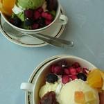 展望レストラン まいづる - 和デザート (バニラと抹茶)