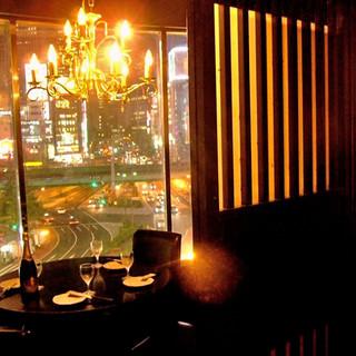 新宿の夜景を楽しむ窓際個室あり!幅広いシーンに対応