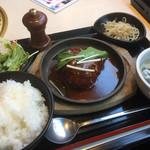73046664 - ♪煮込ハンバーグ定食¥540