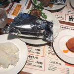 つばめキッチン - つばめ風ハンブルグステーキ+トマトのサラダ1380円