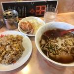 城陽飯店 - 料理写真:焼き飯とらーめんのセット810円