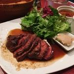 ル・プレヴェール - 牛ハラミステーキプレート 税込@1,188円 ステーキはとても上質で文句のつけようがないおいしいステーキでした!こんなにお得にステーキが食べられるなんて!
