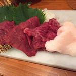 神戸三宮肉寿司 - 馬刺し盛り合わせ