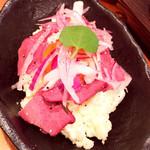 神戸三宮肉寿司 - 肉寿司ポテトサラダ