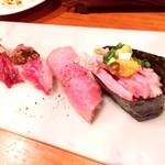 神戸三宮肉寿司 - 肉トロ寿司盛り