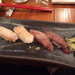神戸三宮肉寿司 - 炙り肉寿司盛り
