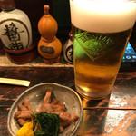 おもろ - 料理写真:お通し・生ビール
