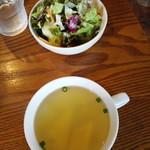 73059184 - スープとサラダ