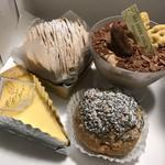 マ・メール アンジュ - 摘みたてショートケーキ デセールモンブラン ショコラトルテ 黒ゴマのシュークリーム