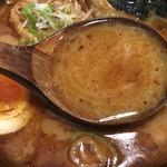 麺処 田ぶし - スープ