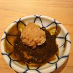 鮨 尚充 - 雲丹醤油の中にごはんを入れます。