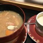 73065631 - 名物ちゃんこ汁+茶碗蒸し