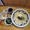 讃岐うどん みやの家 - 料理写真:とろろぶっかけ(冷)1.5盛  with卵黄、出汁もずく