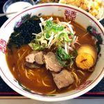 味道本色 - (ランチ)味噌チャーシュー麺+五目半チャーハン¥800 2017.7.13