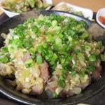 韓国 焼肉 南大門 - この日の日替わり丼は塩ねぎタン丼でした。