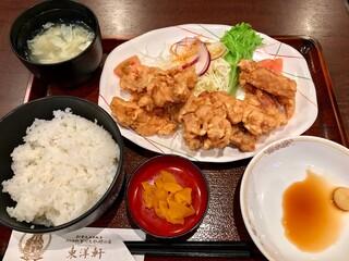 とり天発祥の店 レストラン東洋軒 - とり天定食 1350円