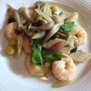 チャイニーズティンバー - 料理写真:海老と茗荷の塩炒め