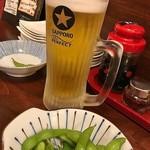 ひとくち餃子てん屋 - 料理写真:18時開店 予約して 突出し枝豆