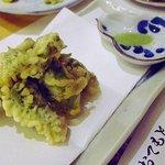 ふらの 海の花 - 本日のおすすめ タラの芽天ぷら