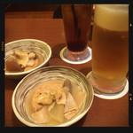 庄や - 生ビール&カシス&お通し