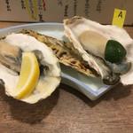 海鮮立呑 牡蠣スタンド - 大ぶりな牡蠣達