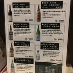 ちょんたま食堂 - 日本酒メヌー
