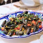 トラットリア タンタボッカ - モンサンミッシェルのムール貝と、トマトのパスタ