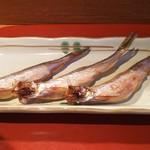 すし耕 - 焼きシシャモ(北海道鵡川産)(800円)