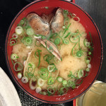 天ぷら 大吉 - アサリ汁