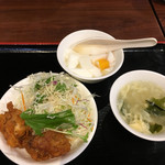 陳家私菜 有楽町店 - 杏仁豆腐 スープ 唐揚
