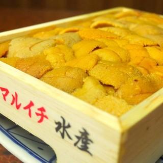 北海道直送の新鮮クリーミーな「ウニ」が本当に美味しい♪