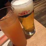 ご馳走 DE がんす - エクストラコールドとカシスグレープフルーツで乾杯!